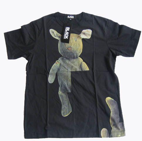BLACK COMME des GARCONS Black short sleeve T shirt/XL