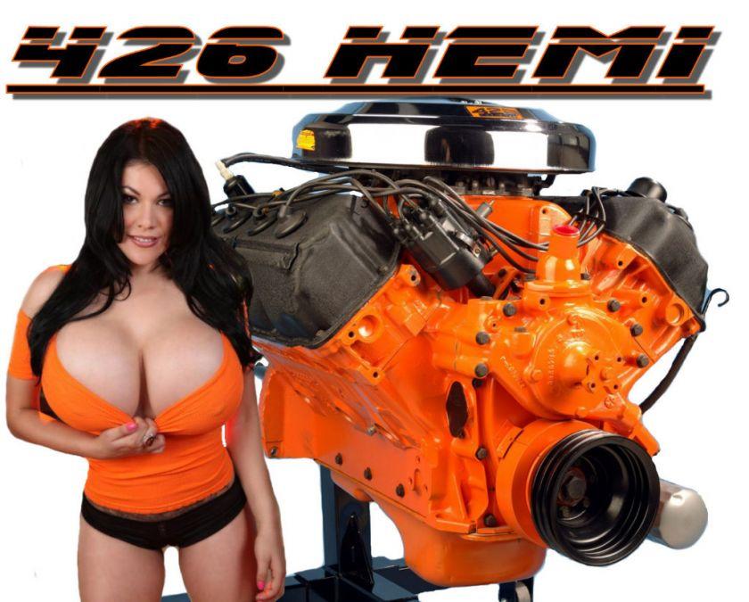Car T Shirt 426 Hemi Big Block Mopar Racing Engine Sexy