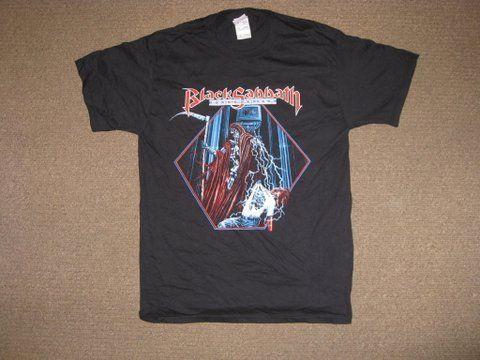BLACK SABBATH T SHIRT  VERY RARE 1992 DEHUMANIZER  PRINTED FRONT