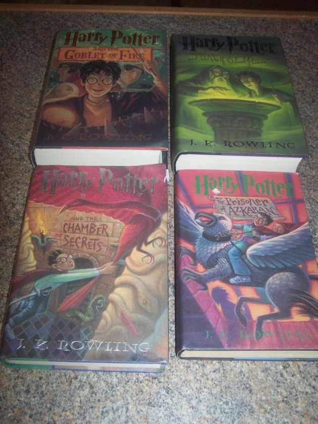 Set Of 4 Harry Potter Hardcover Books 1st Edition Great Lot