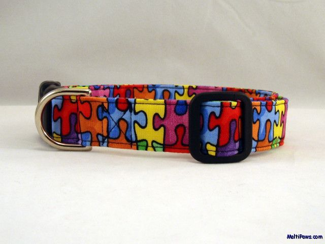 Awesome Puzzle Piece Autism Awareness Dog Collar