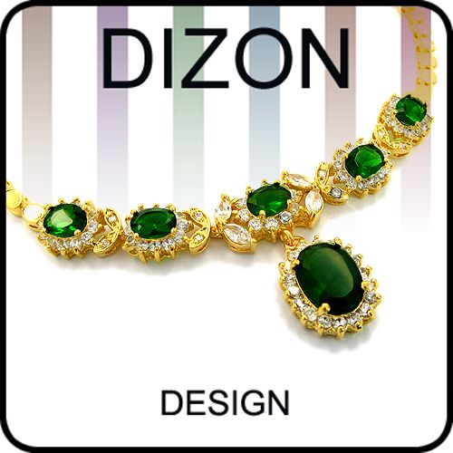 FASHION LADY JEWELRY GREEN EMERALD YELLOW GOLD P PENDANT NECKLACE NECK