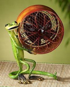 Gecko Small Metal Figurine Fan By Deco Breeze