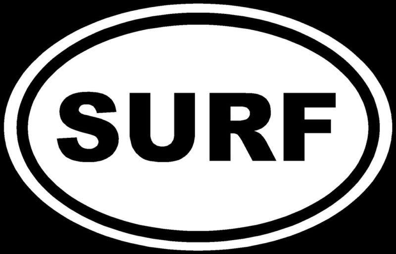 SURF Sticker Water Sports Vinyl Car Window Decal Laptop
