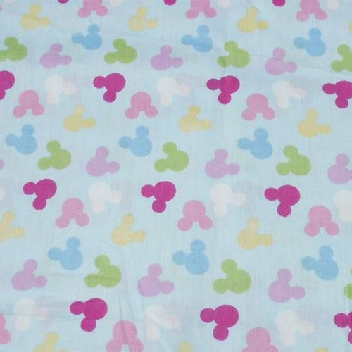Mickey Mouse Head Outline Quilt Fabric W 63 c800