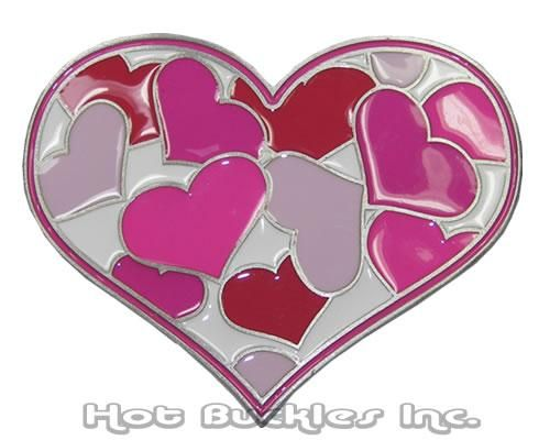 Belt Buckle Gift For Valentines Day Heart Love Rose